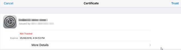 ios show certificate